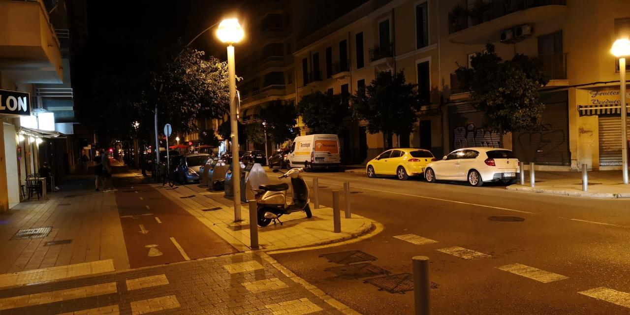 Empty street in Arquitecte Bennàssar, Palma.