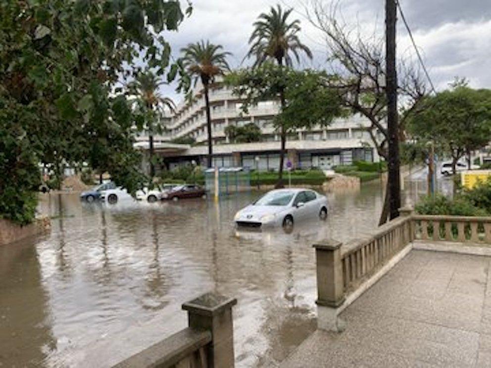 Flooding in Majorca.