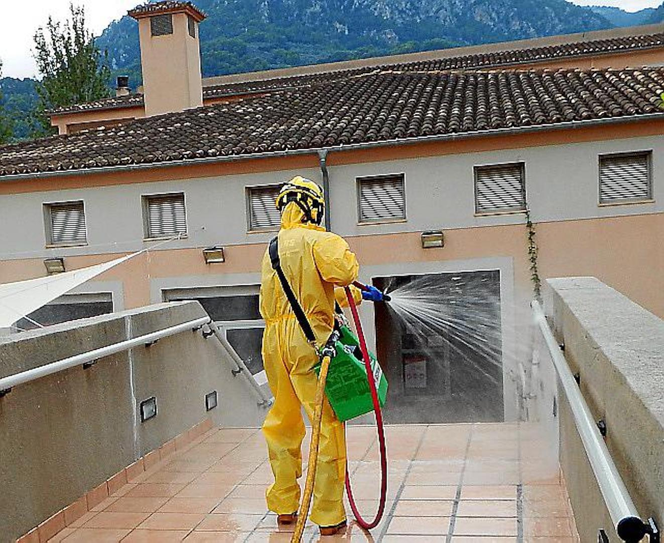 Bell Entorn Nursing Home being disinfected.