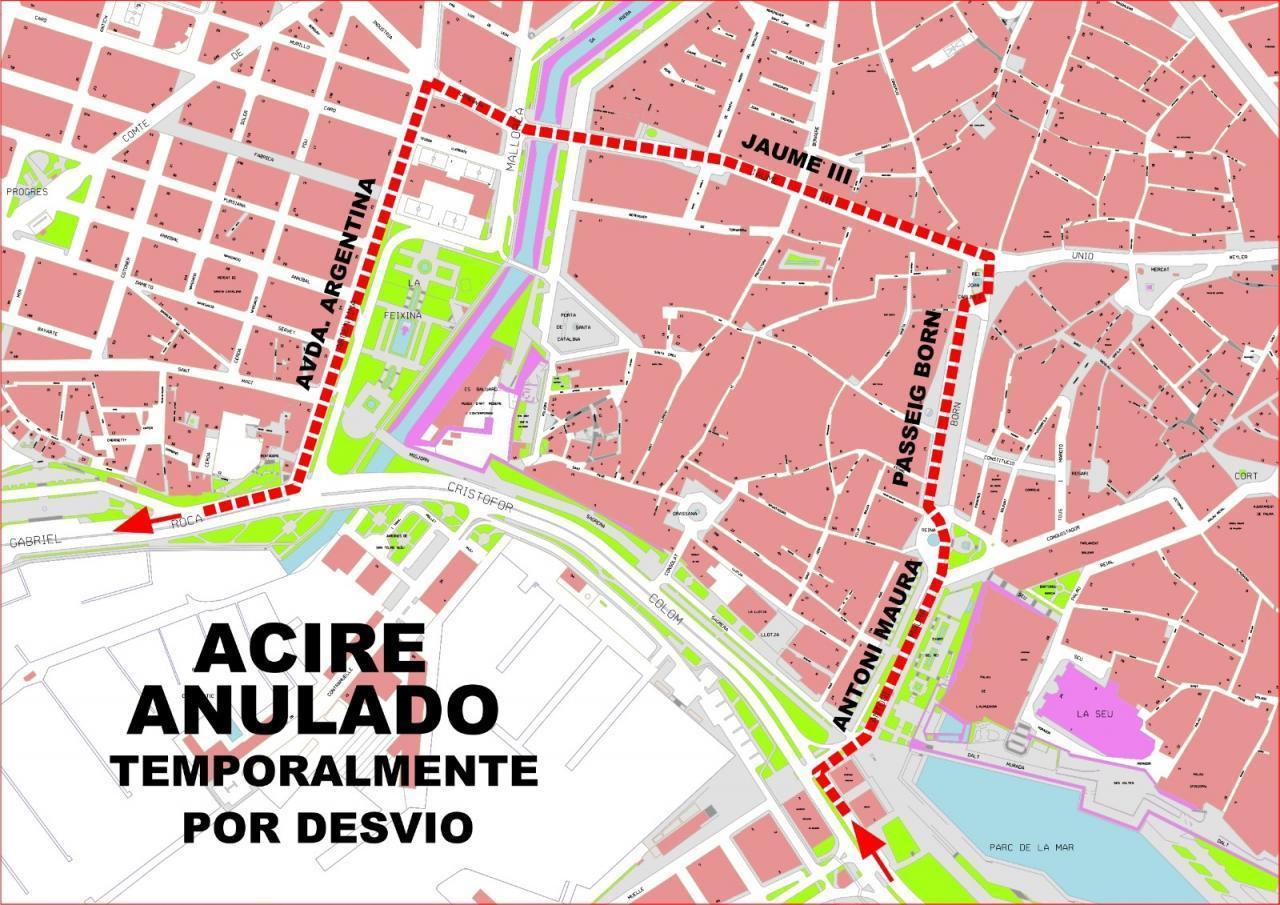 Detour route, Palma.