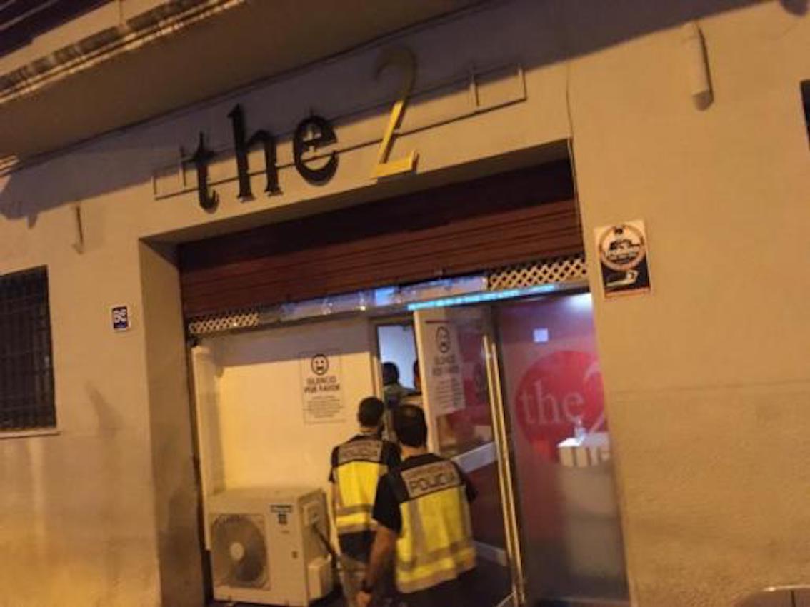 Police raid nightlife venues in Palma.