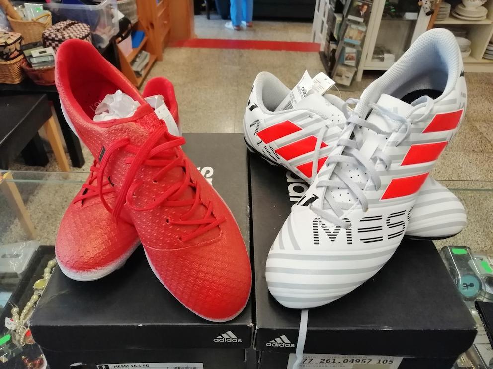 Football boots.