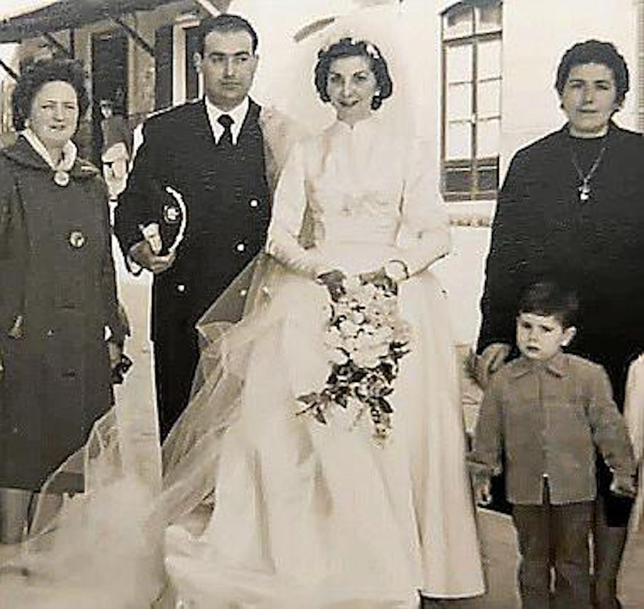 Margarita & husband Miquel Alemany on their wedding day.