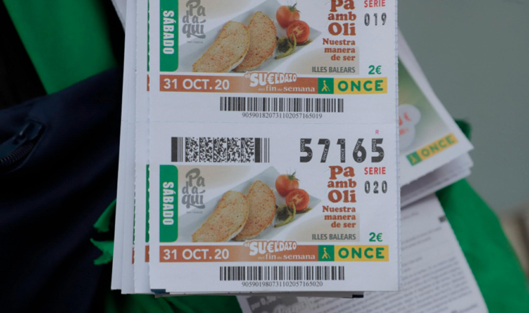The lottery coupon with the pa amb oli