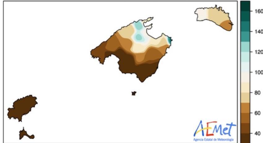 October 2020 % Precipitacion
