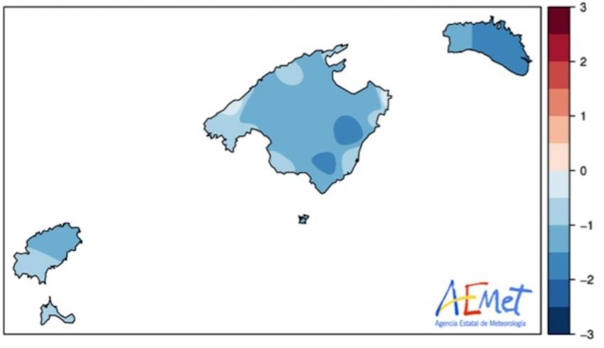 October 2020 Temperature anomoly ◦C
