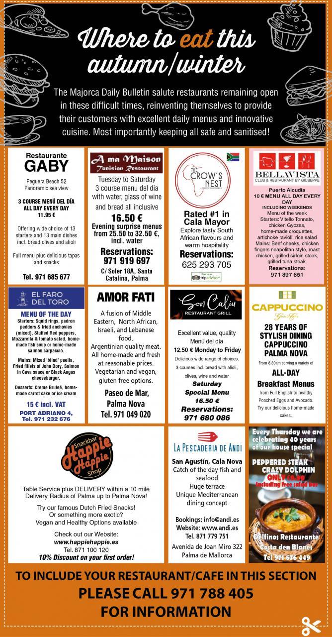 Local restaurants in Mallorca