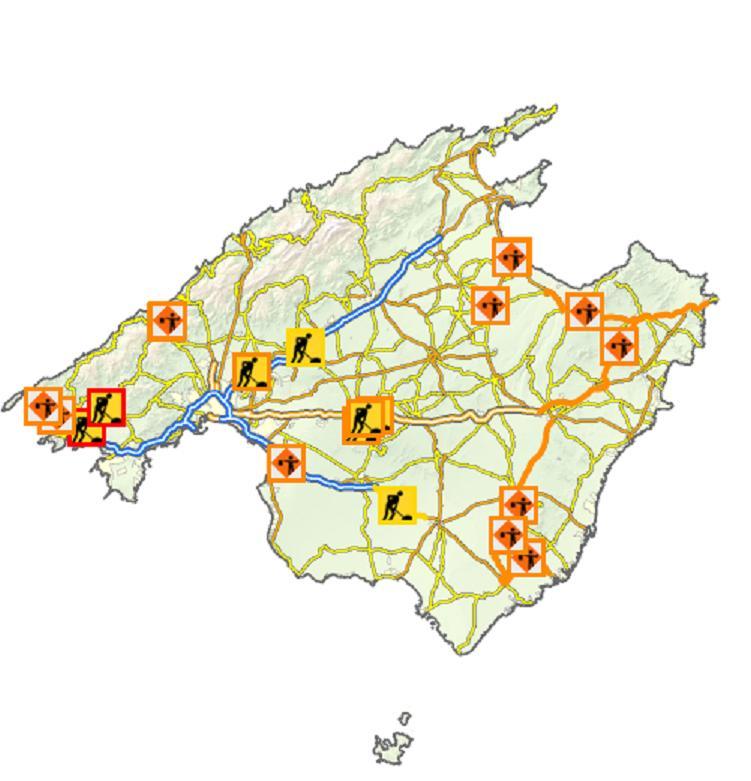 Roadworks on Mallorca