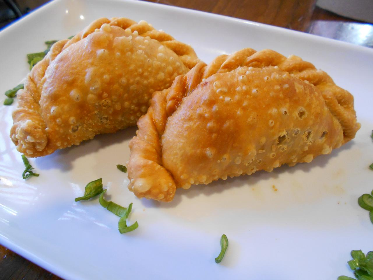 The empanadas had a succulent meat filling