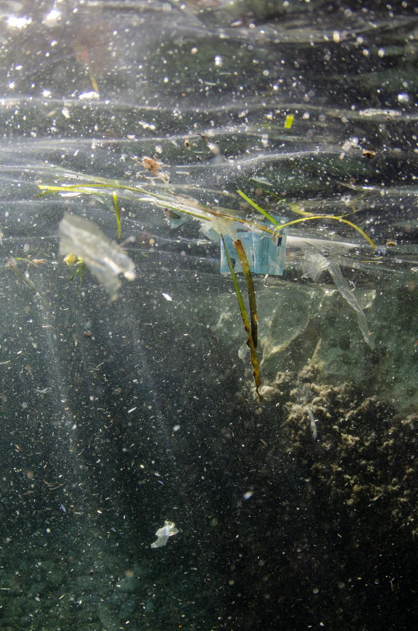 Plastics under the water