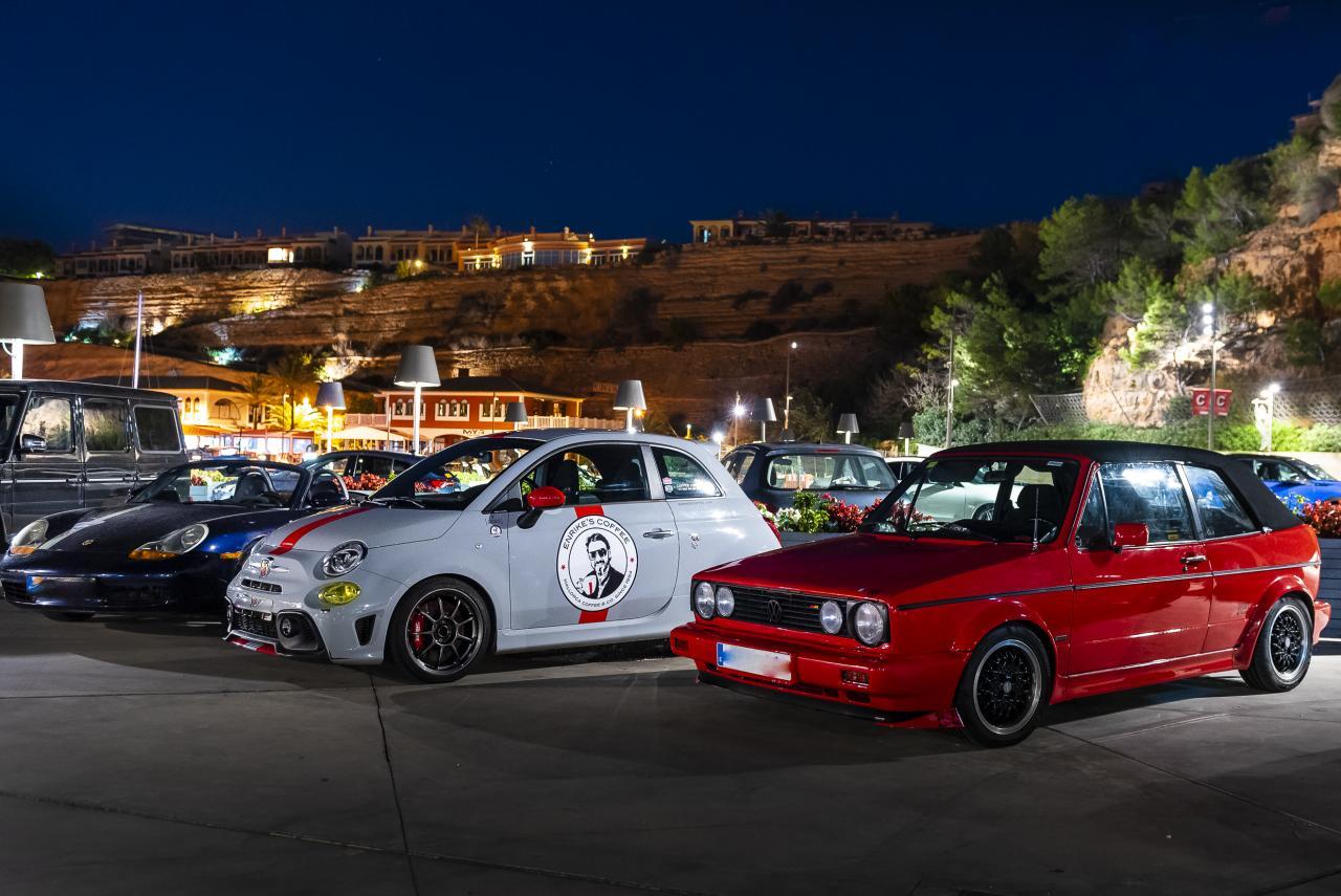 VW Golf, Fiat Abarth and porsche Boxster