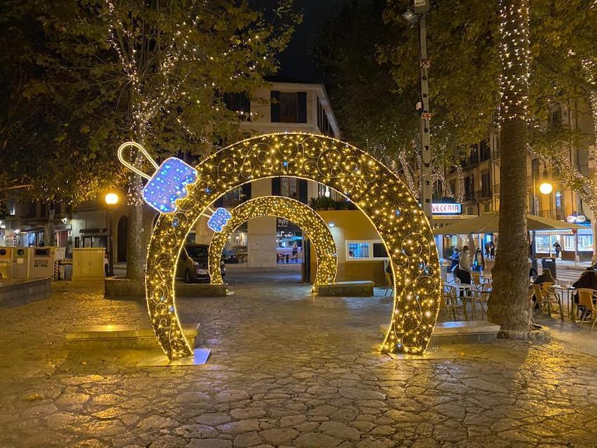 Luces de Navidad en Palma.