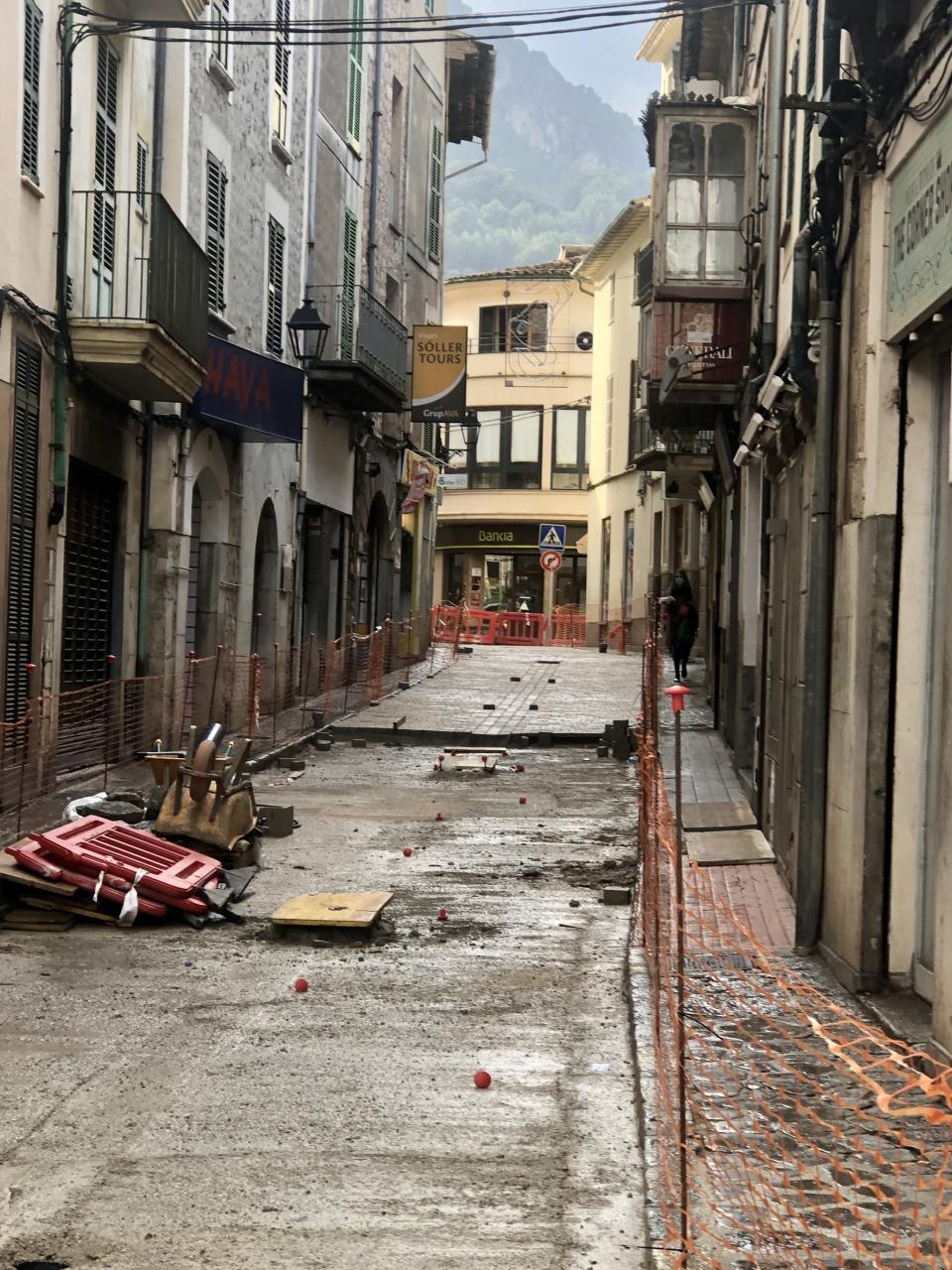The street repairs