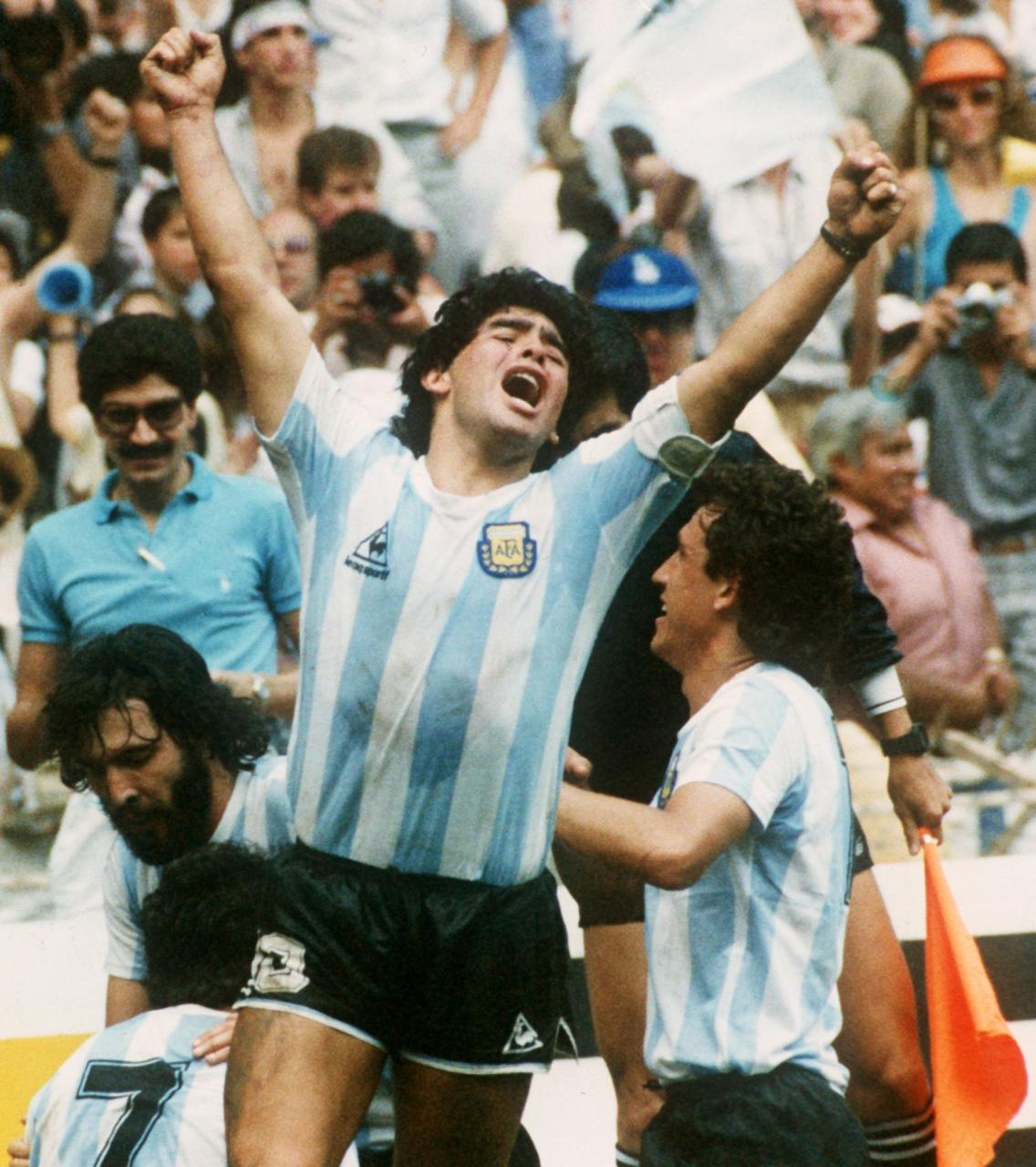 Diego Armando Maradona, former player of the Argentine National Team