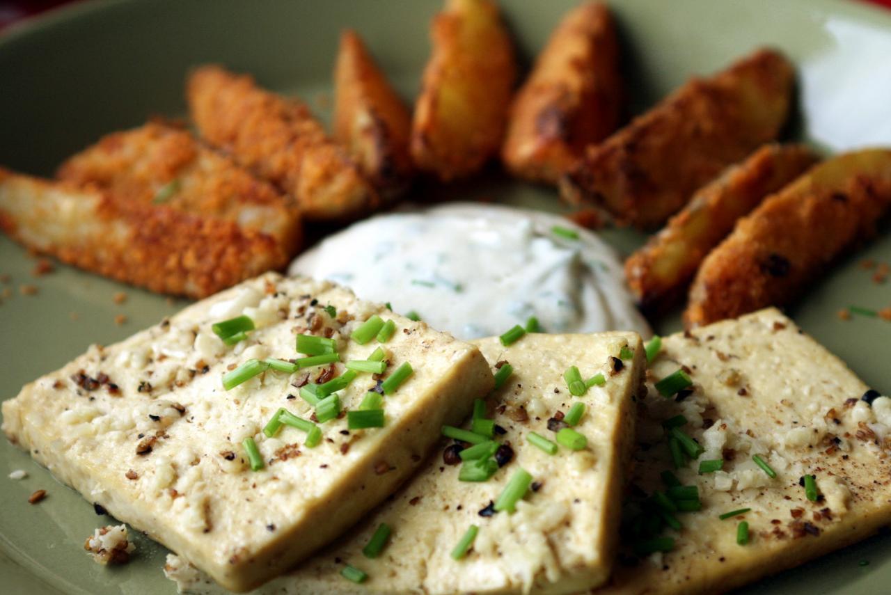 Presentation of tofu