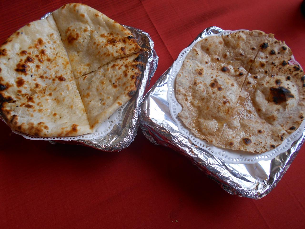 El peshawari naan y el inusual chapati
