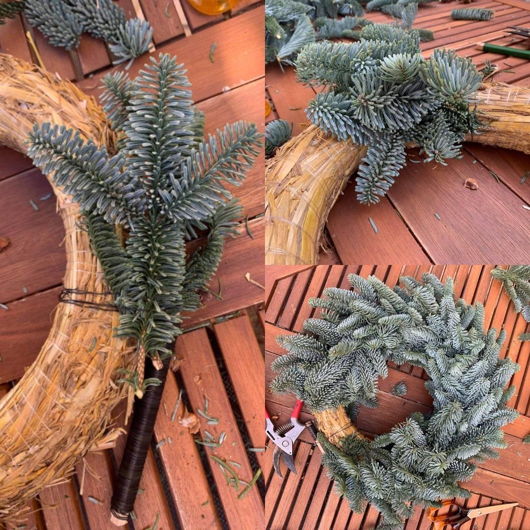 Steps 4-7 Wreath Making