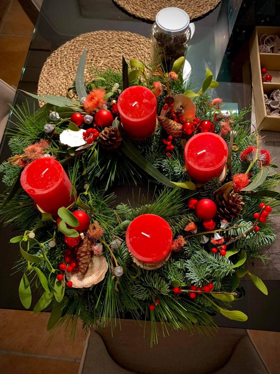 Red Table Wreath