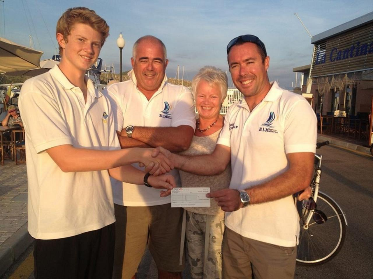 Charity cheque from Joe's boat show