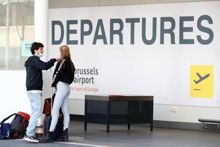 Passengers at Brussels Airport.