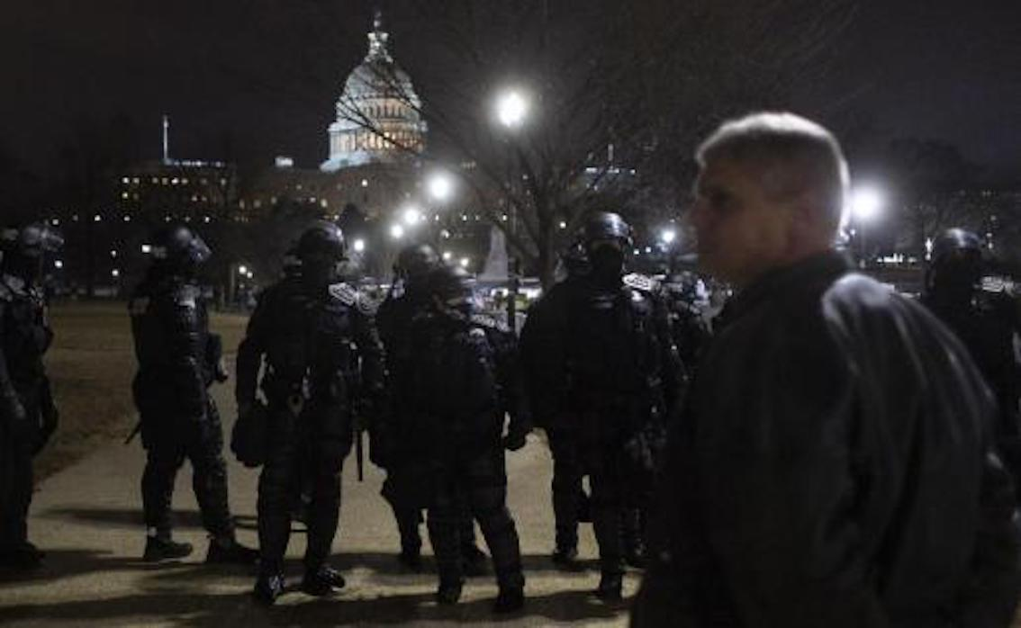 Riot Police on Capitol Hill.