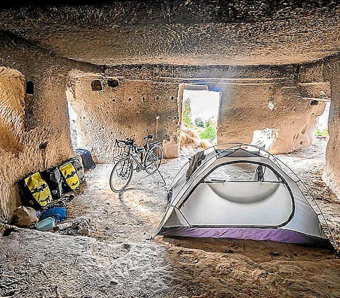 Miquel Sorell's camp site.