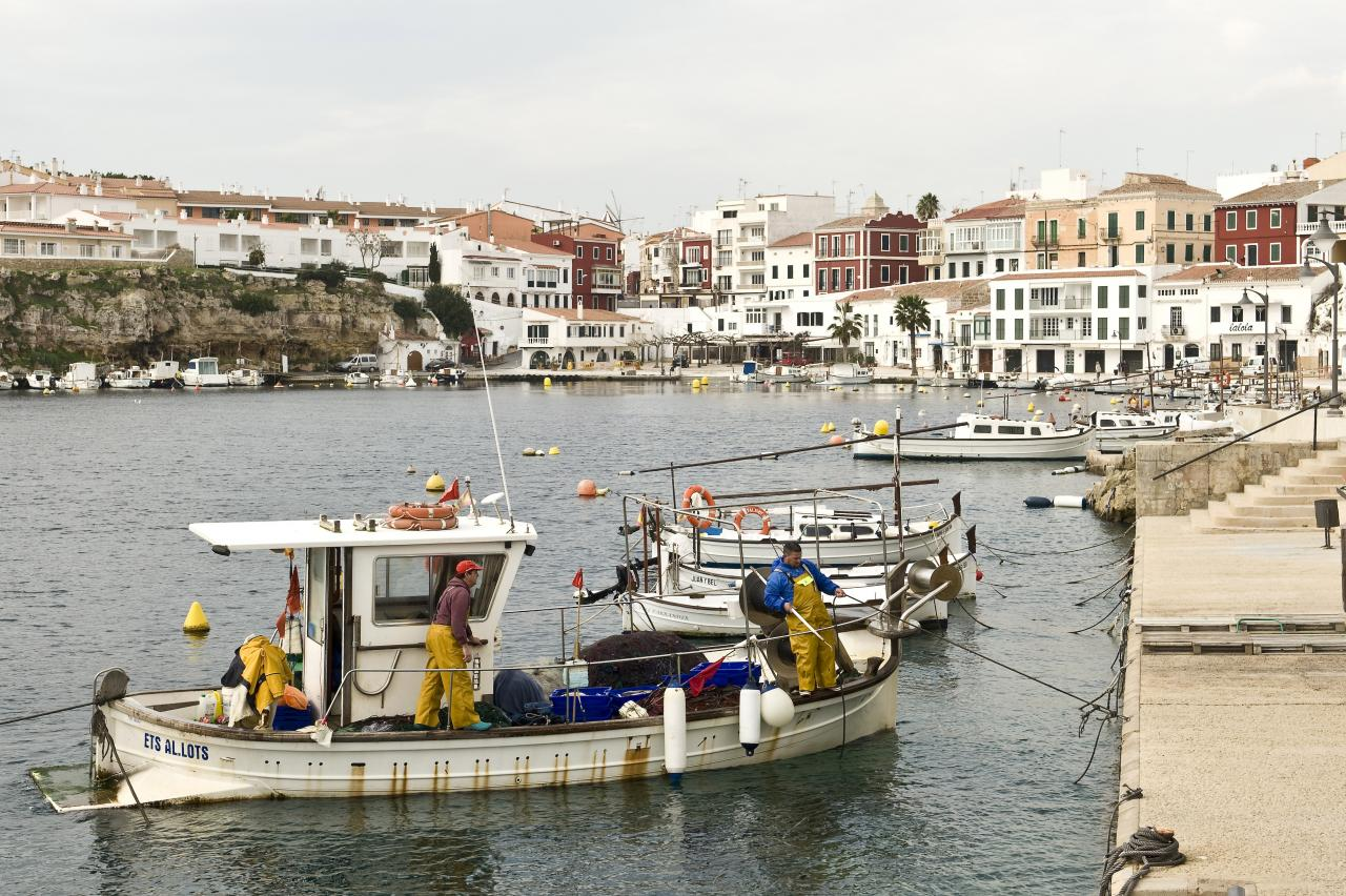 Fishermen at Cales Fonts