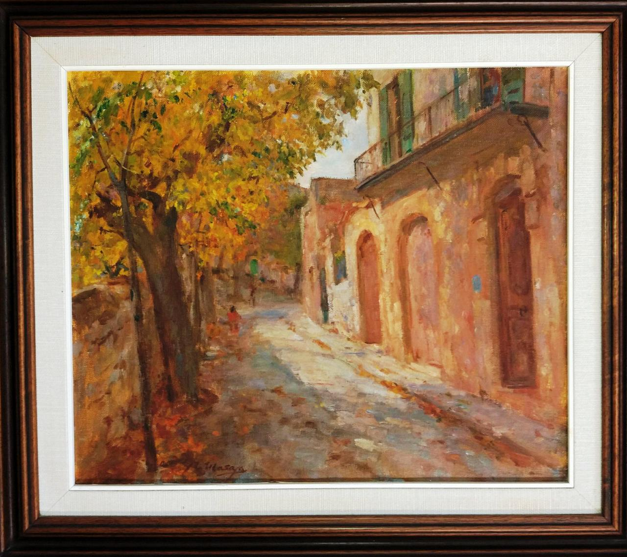 The painter Masaya collected the front of the hostel from Uetam Street in an oil painting around 1984