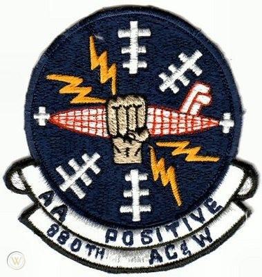 USAF 880th Aircraft Control & Warning Radar Squadron Pat badge