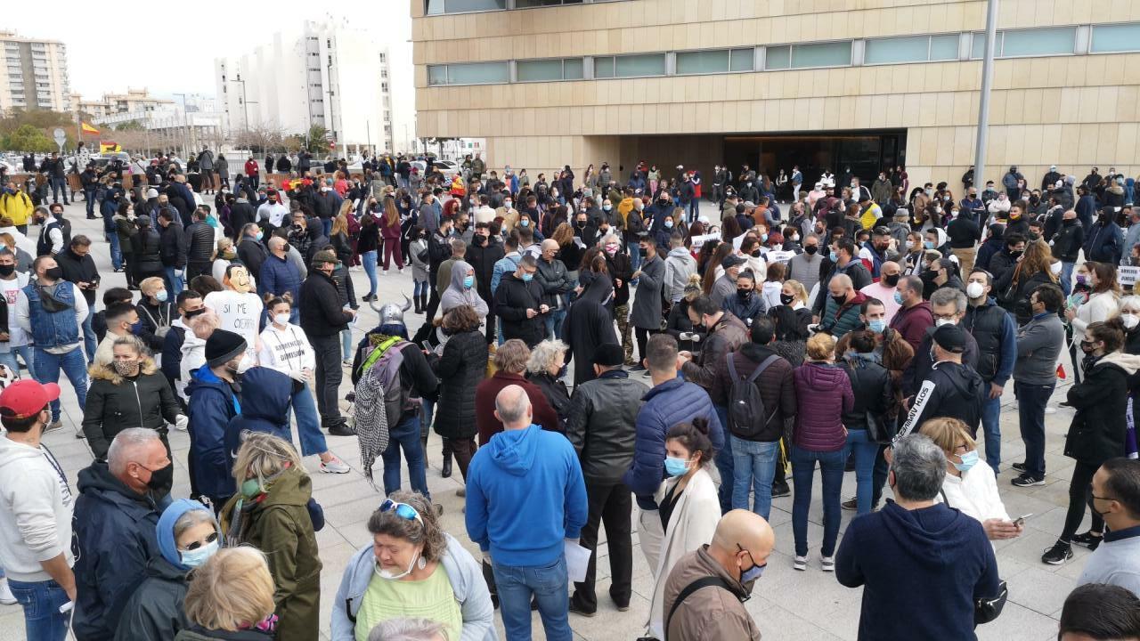 Protest in Palma