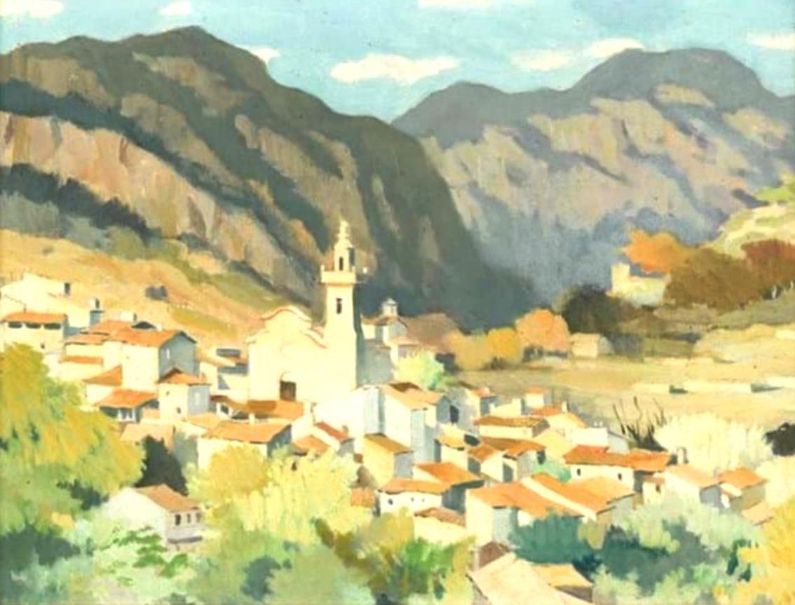 El pueblo de Valldemossa, Adolphe Valette.