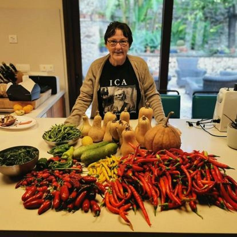 Lynn McAvenia with some of last years harvests
