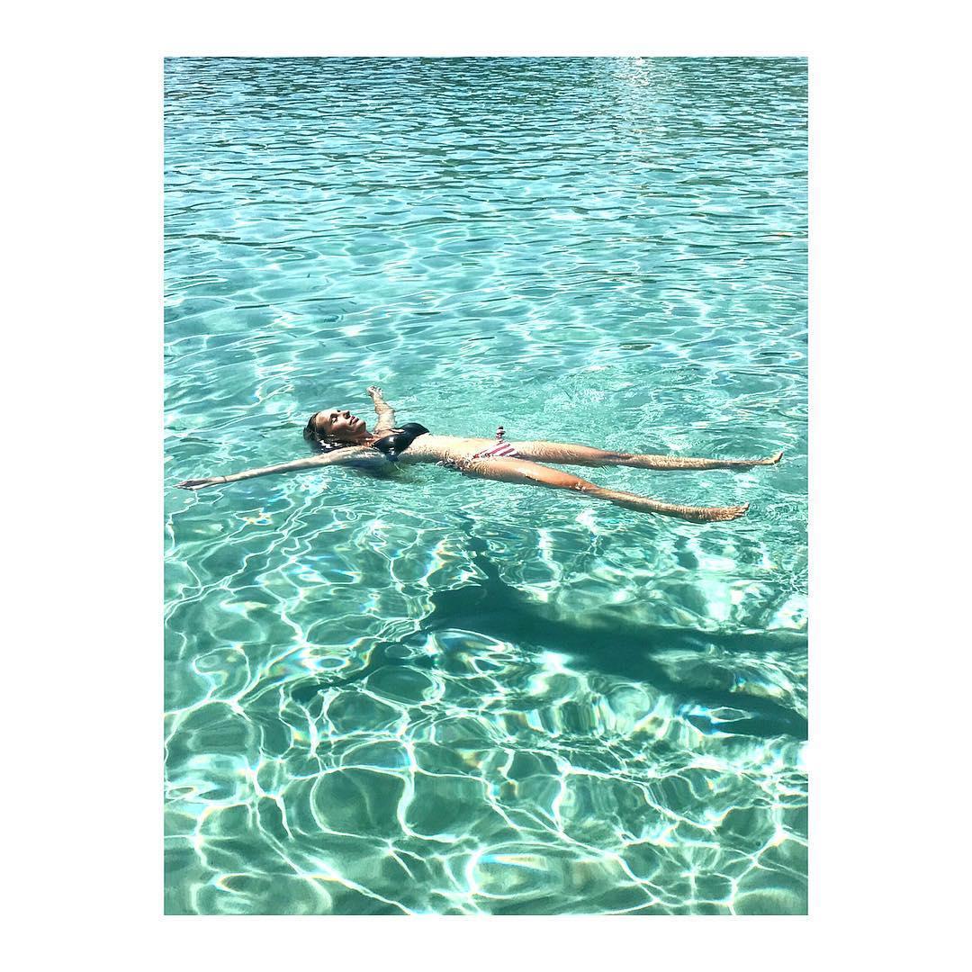 Carola Baleztena on holidays in Majorca