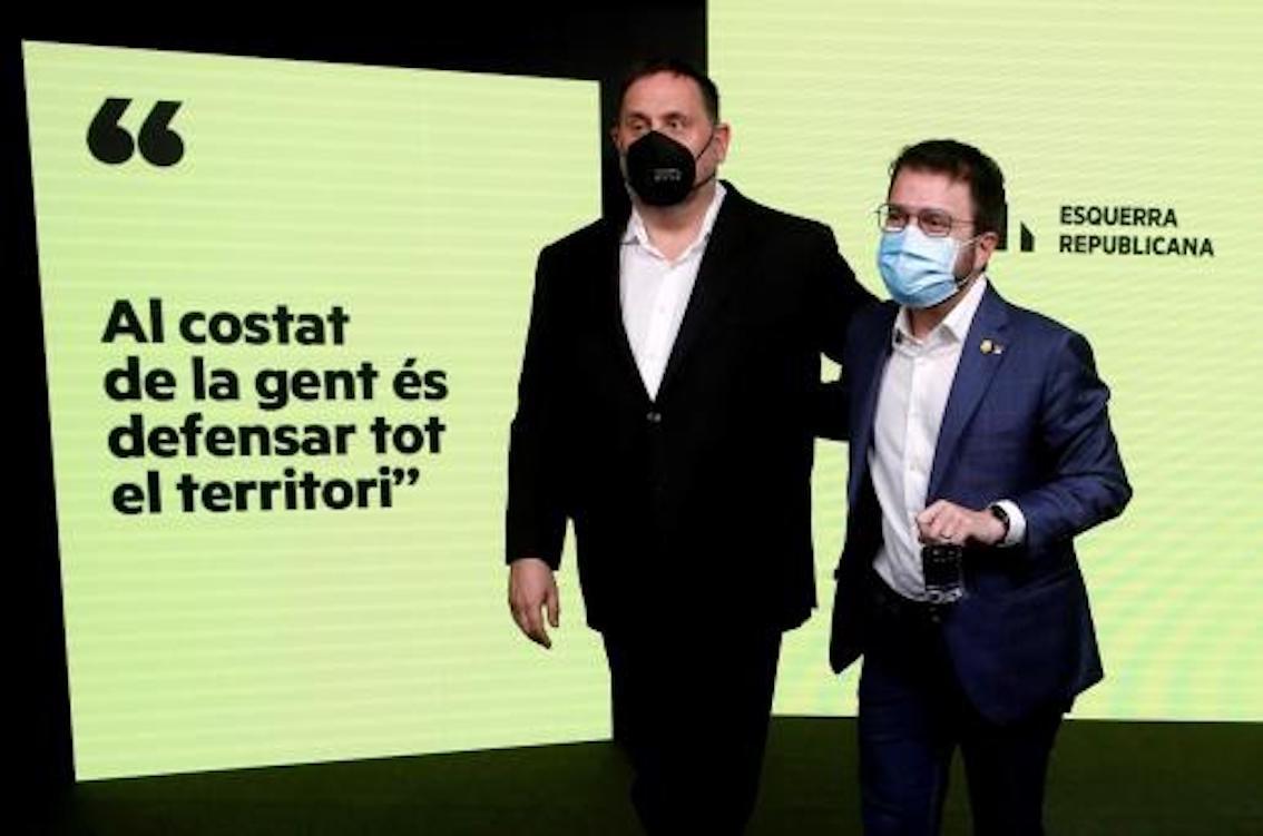 ERC Candidate, Pere Aragonès & ERC President, Oriol Junqueras.