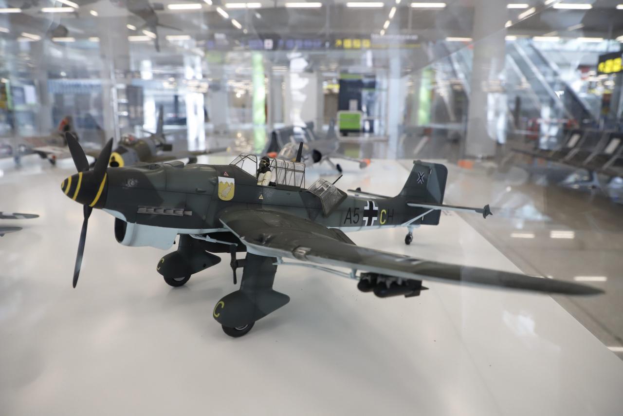 Model military plane.