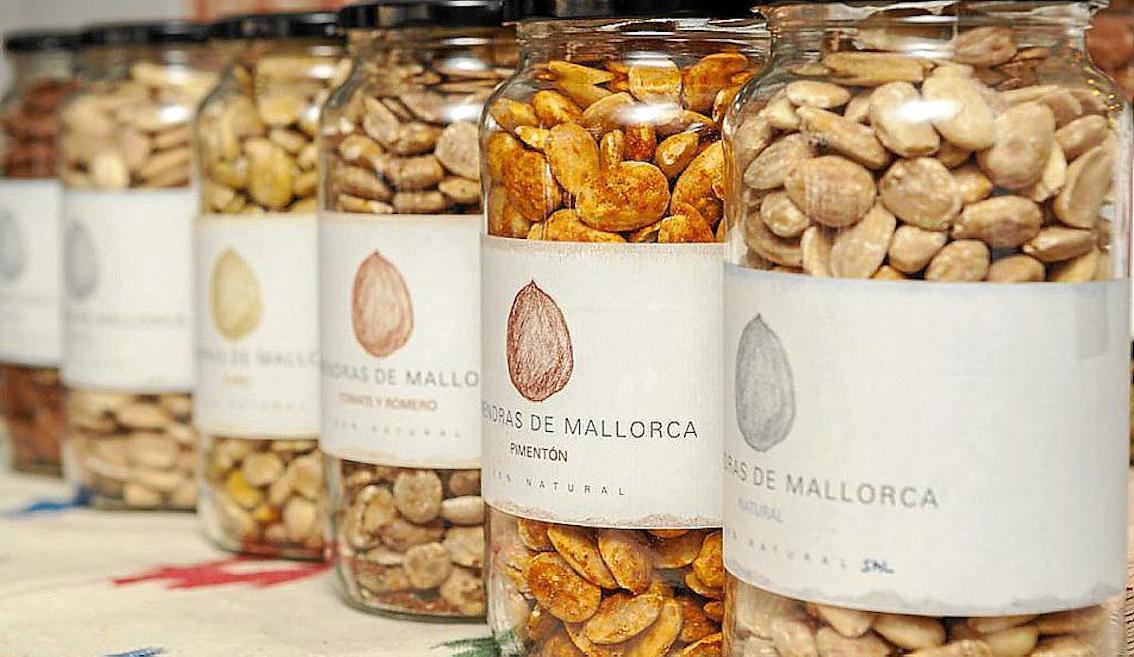 Ametlla+ de Mallorca's jars of almonds.