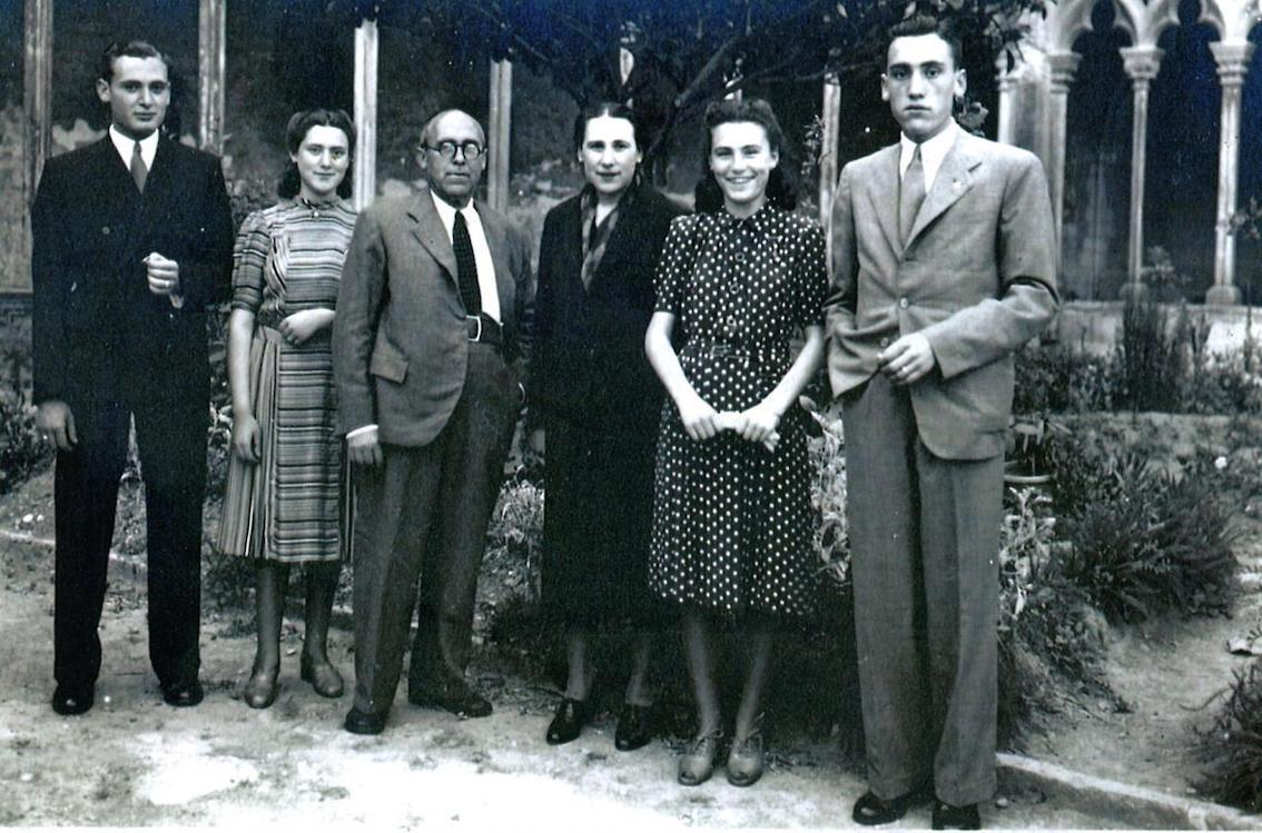 José Vila Coll with Magdalena Alcover & children, Antonio, Catalina, Margarita and Sebastián.