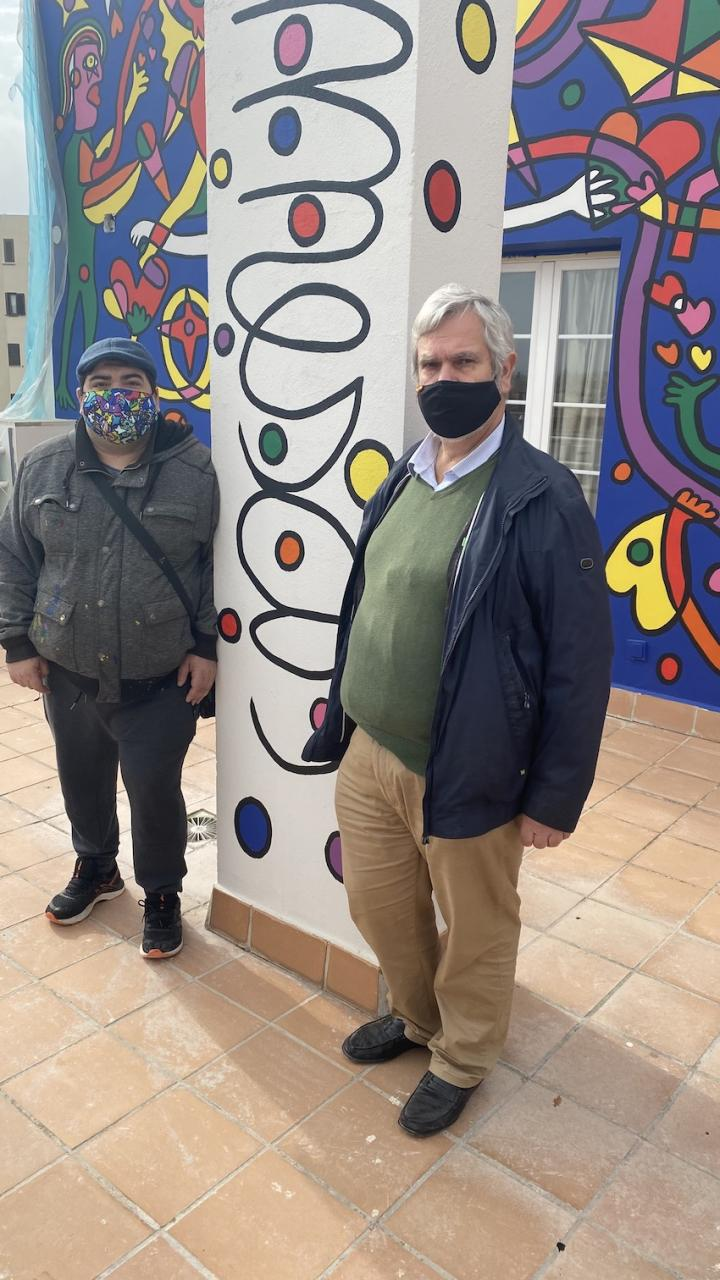 Artist José Luis Mesas & Hotel Artmadams owner, Jaime España.