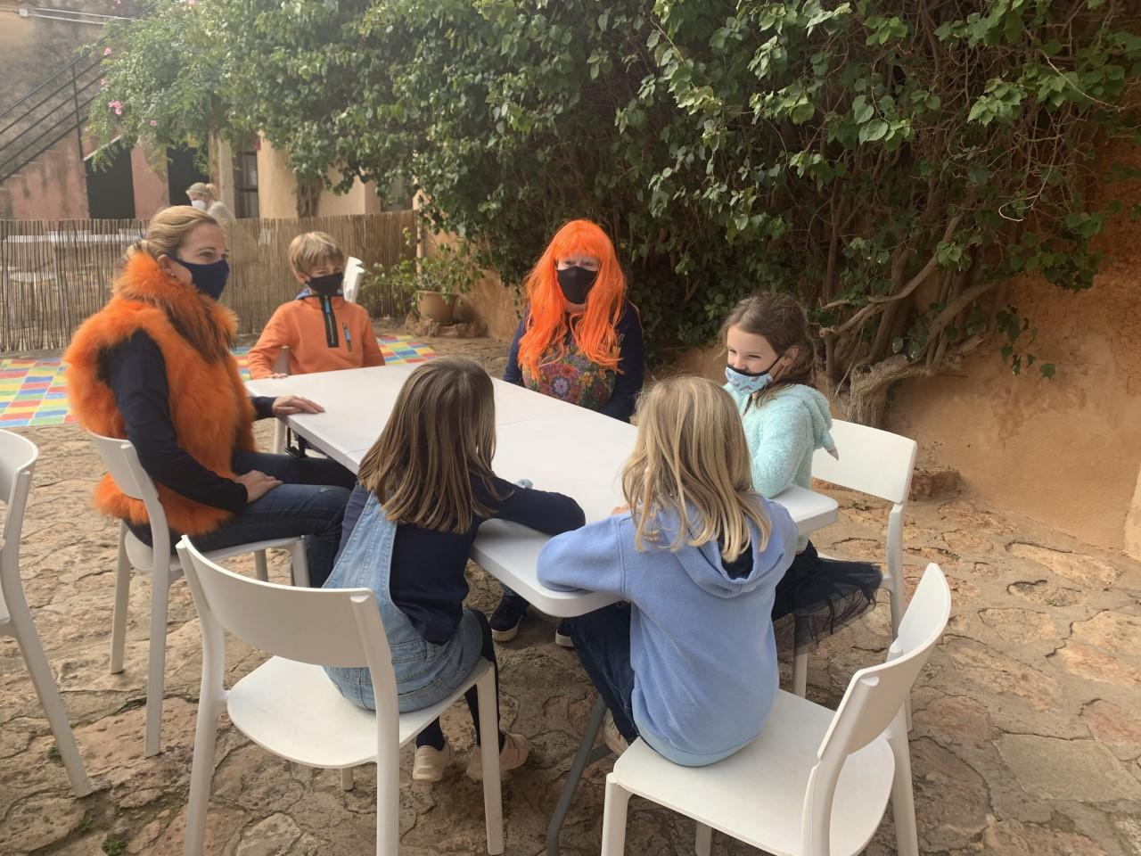 The children brainstormed fundraising techniques
