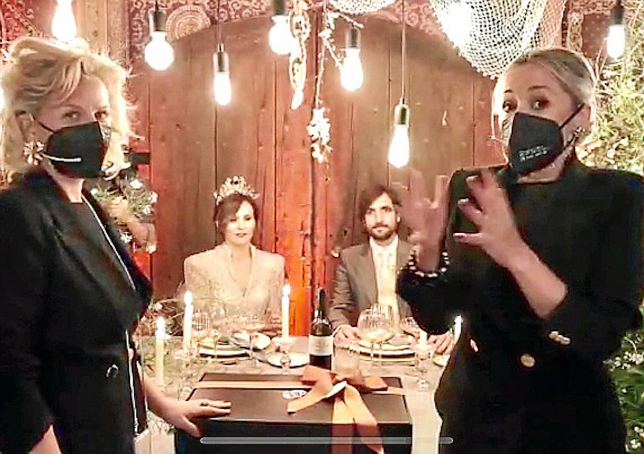 Sonia & Neus with the bride & groom.