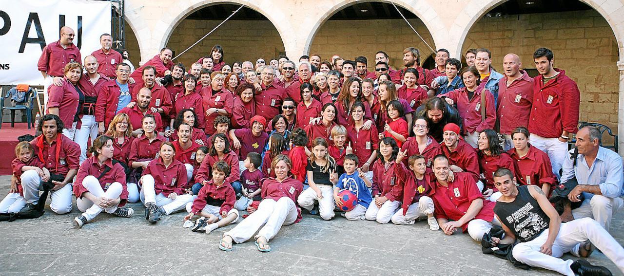 Los Castellers de Mallorca, Bellver Castle, Palma.