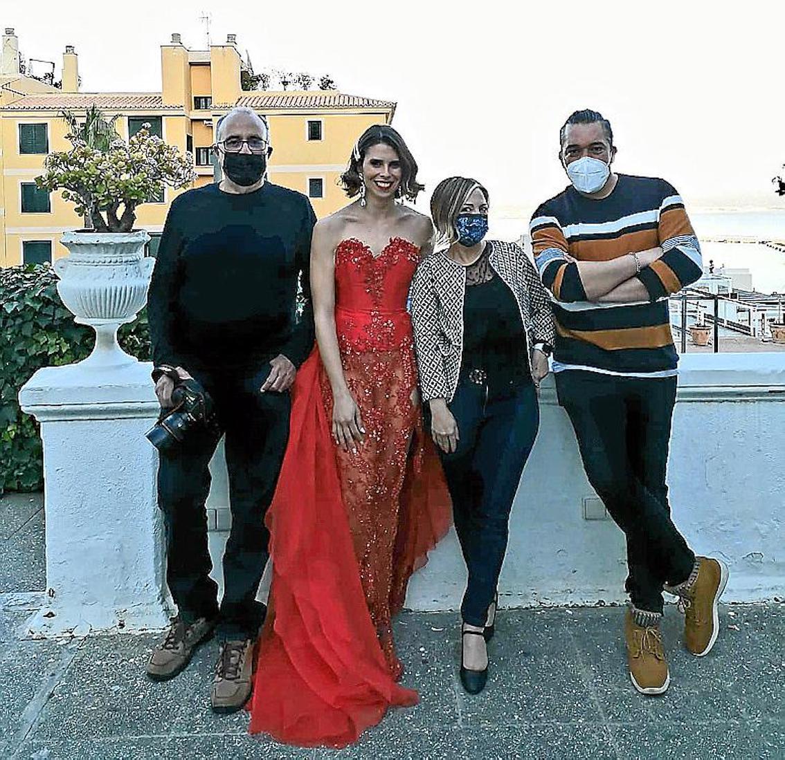 Left-right, Pau Torrens, Mireia Mendoza, Nancy Pujol and Hugo Micaelo, at the Horizonte Hotel.