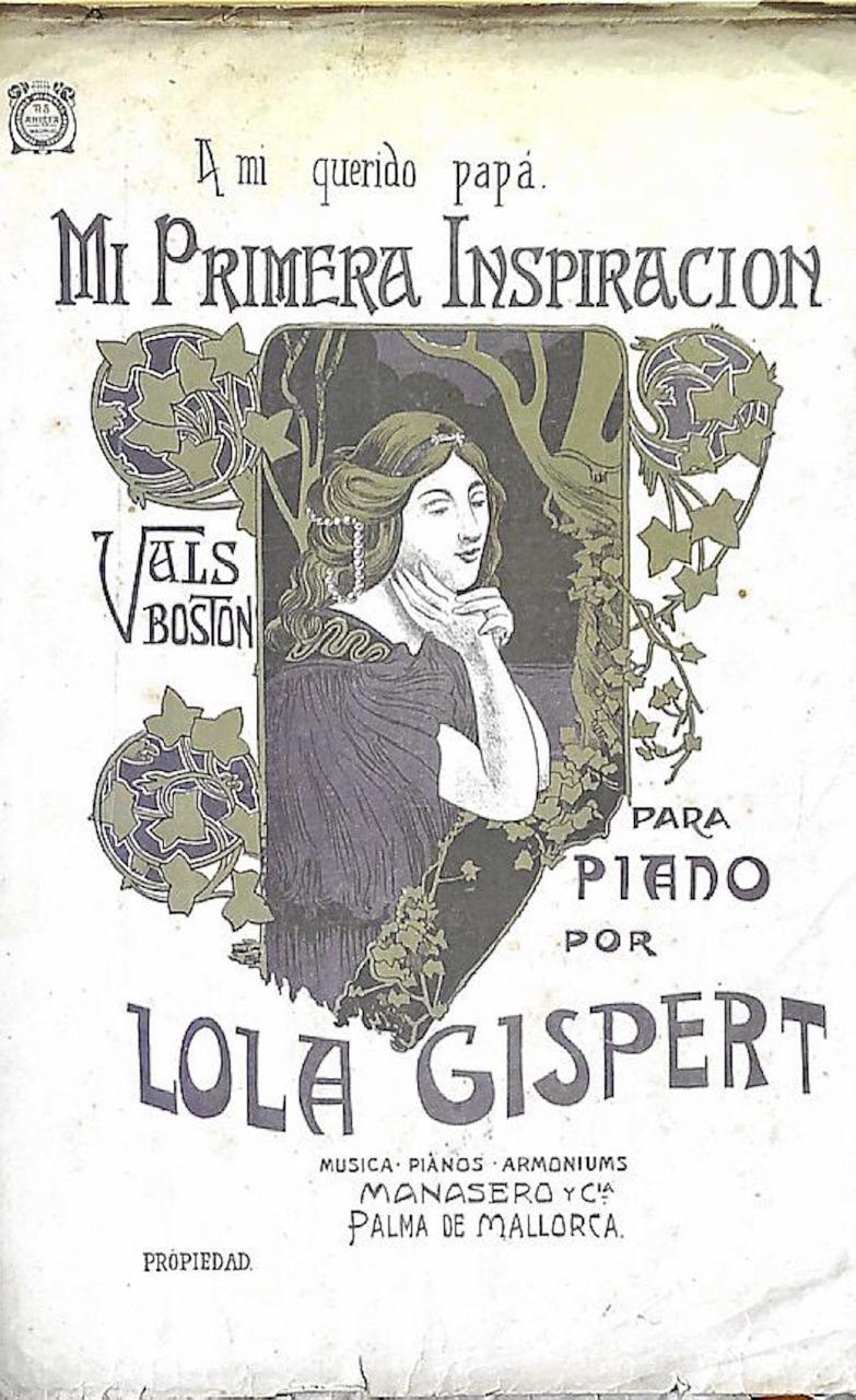 Poster for 'Mi Primera Inspiración' by Lola Gispert.