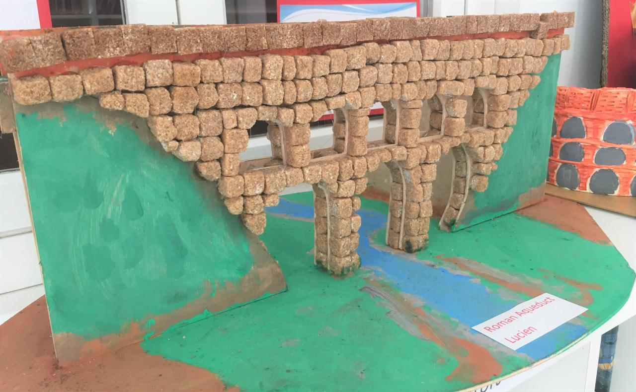 Romans invented many creations such as the aqueduct