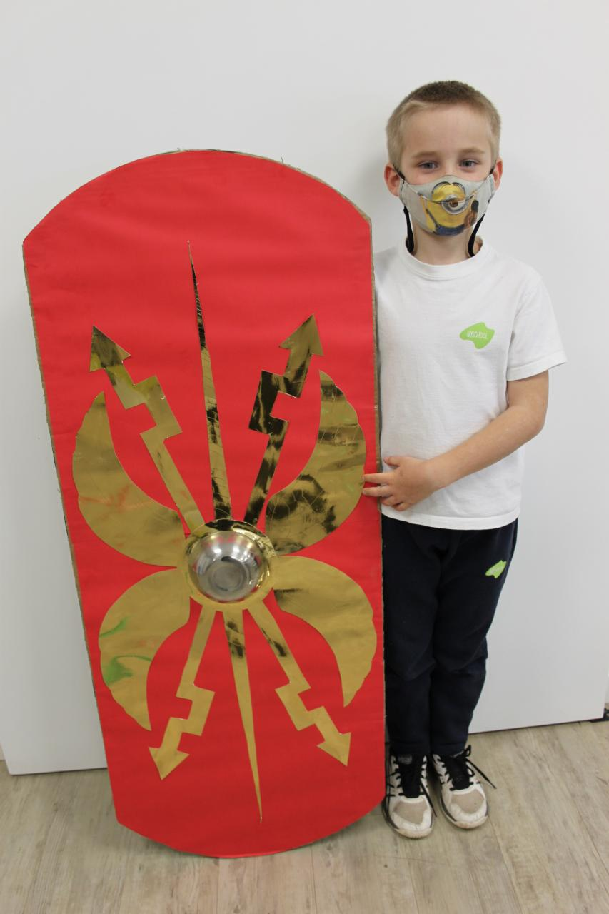 The Romans had 3 shields, one of which was copied from the Greeks but the best one was called the scutum