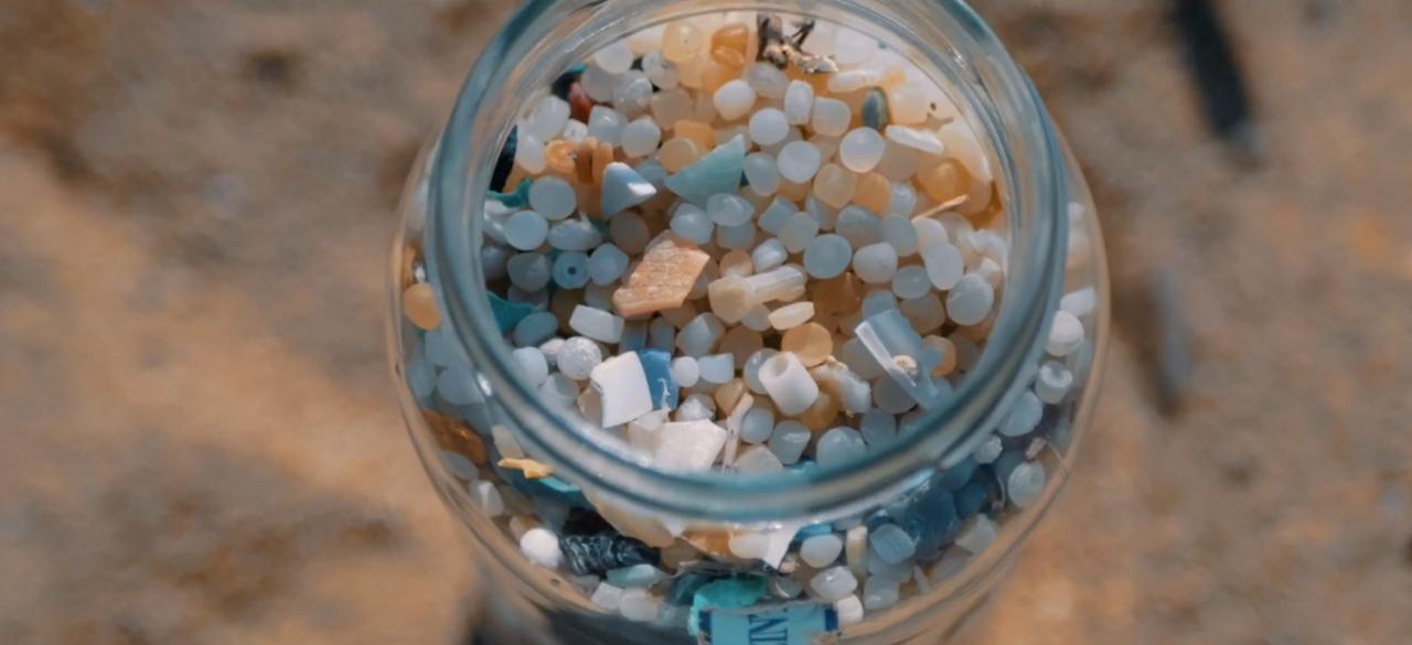 Microplastics found on beach