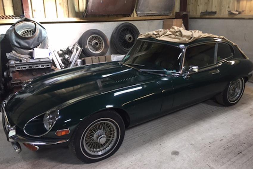 1971 E-type Jaguar.