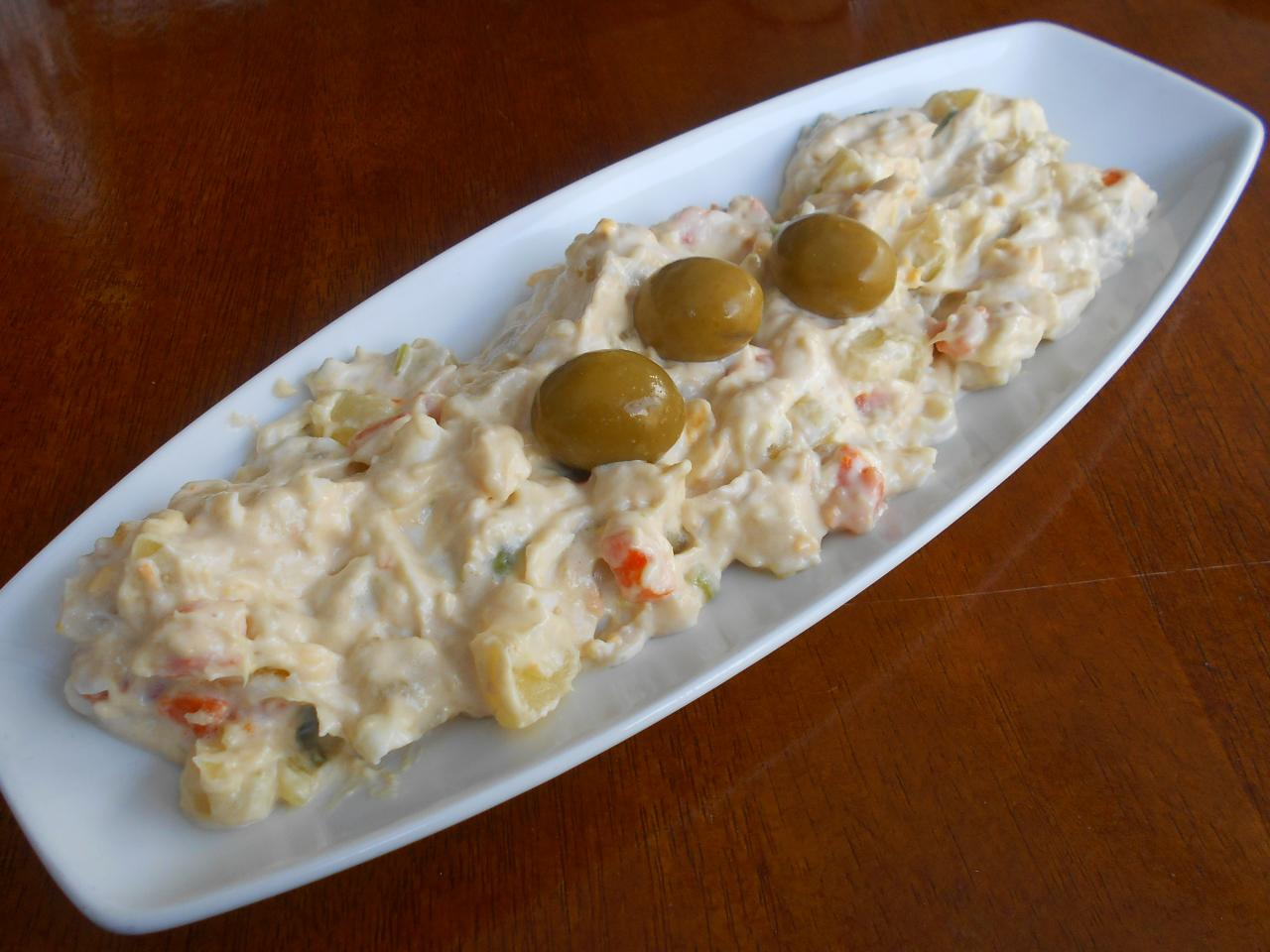 Their inaccurate version of Russian salad was most enjoyable