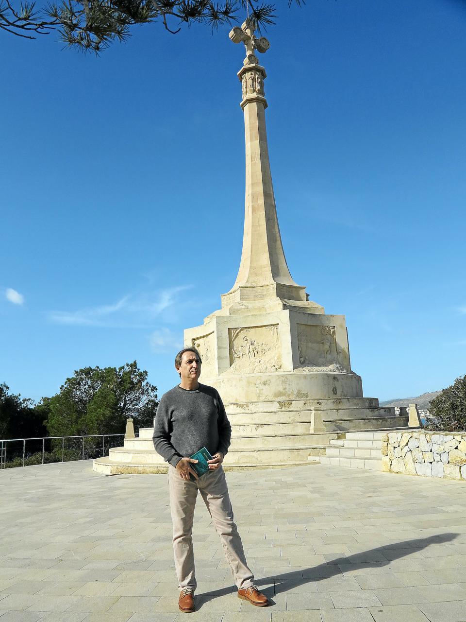 Historian Augustí Aguiló in Santa Ponsa.