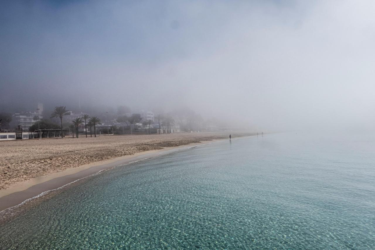 Fog on the coast of Magaluf